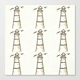 Lighthouse Pattern Canvas Print
