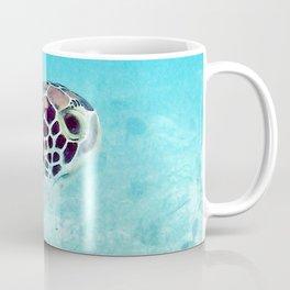Watercolor Turtle, Green Turtle 17, St John, USVI Coffee Mug