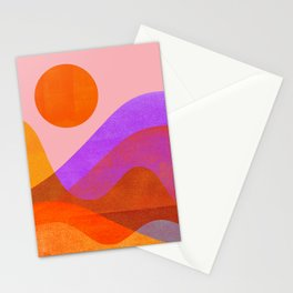 Abstraction_OCEAN_Beach_Wave_Minimalism_001 Stationery Cards