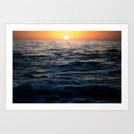 Newport Beach Sunset  Art Print