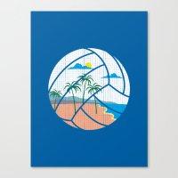 volleyball Canvas Prints featuring Beach Volleyball by Erik Sandi Satresa