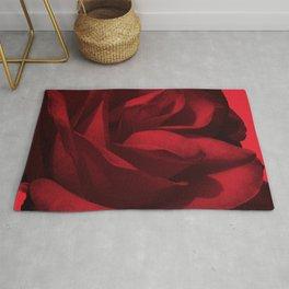 rose rouge 5 Rug