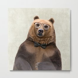 Mr Bear Metal Print