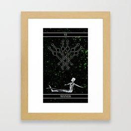 A Tarot of Ink 06 of Wands Framed Art Print