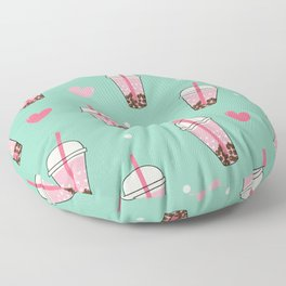 Boba Tea Love Floor Pillow