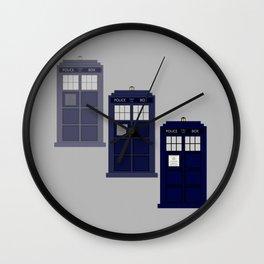 The Materializing TARDIS Wall Clock