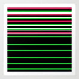 Bright Stripes II Art Print