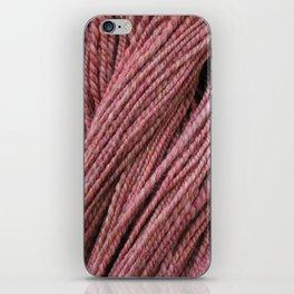 Pink Mauve Handspun Yarn iPhone Skin
