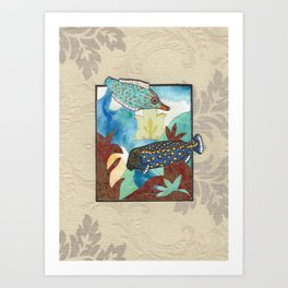 Fish Collage Art Print