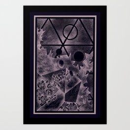 Crystalize / Art / Stippling / Abstract Art / Drawing Art Print