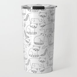 Cute red pandas Travel Mug