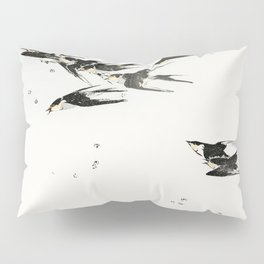 Wantanabe Seitei - Flying magpies Pillow Sham