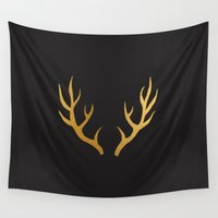 antler Wall Tapestries featuring ANTLER by crisunplugged