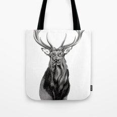 Bull Elk Encounter Tote Bag