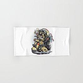 Smoke Skull Driver Moped - Texas cigar Hand & Bath Towel