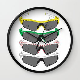 Tour de France Glasses Wall Clock