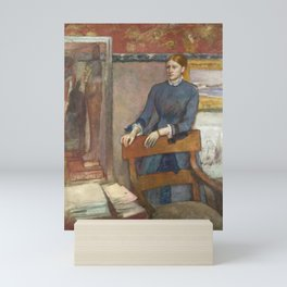 Helene Rouart in her Father's Study by Edgar Degas Mini Art Print