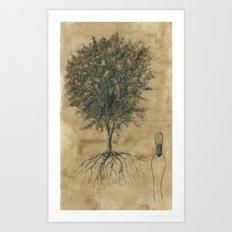 Artificial tree N.04 Art Print