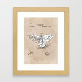 patent art Spalding Flying Machine 2    1889 Framed Art Print