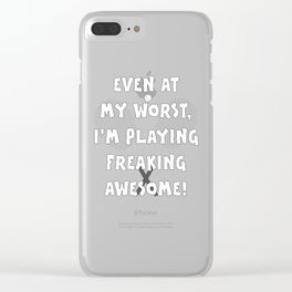 Tennis Lifestyle awesome present Clear iPhone Case