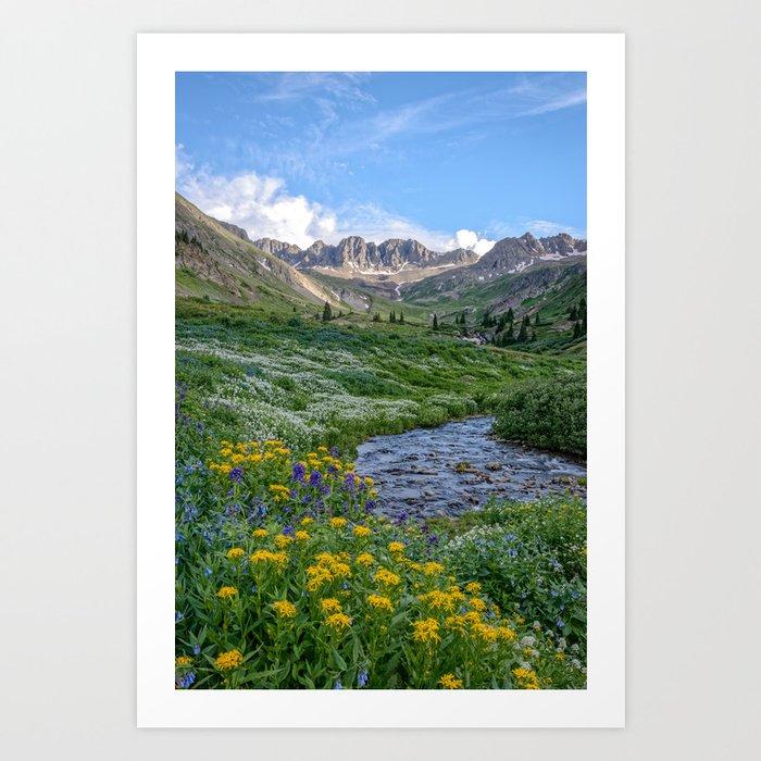 AMERICAN BASIN COLORADO MOUNTAIN SUMMER LANDSCAPE PHOTOGRAPHY Art Print