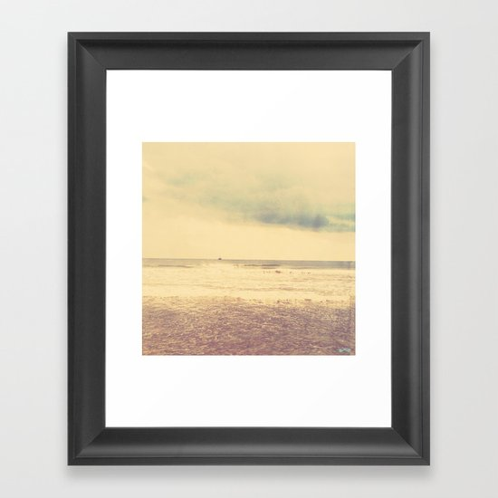 The Return Home. Framed Art Print