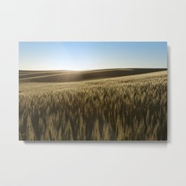 Palouse Sunset Photography Print Metal Print