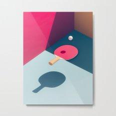 Pop Pong Metal Print