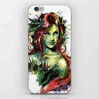 poison ivy iPhone & iPod Skins featuring Poison Ivy by Vincent Vernacatola