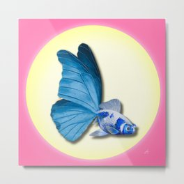 THE BUTTERFLY FISH - Barbara Metal Print
