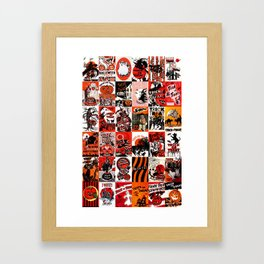 Halloween : Trick Or Treat, Smell My Feet, Gimmie Something Good To Eat. Framed Art Print