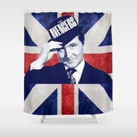 avenger Shower Curtains featuring Original Avenger  by Rachcox