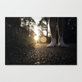 Louisiana Asphalt & White Socks Canvas Print