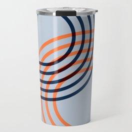 Counterbalance - orange blue Travel Mug