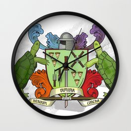 Sewer Family Crest Wall Clock
