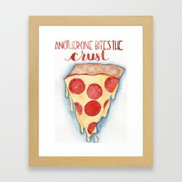 another one bites the crust Framed Art Print