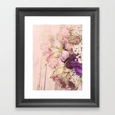 Gorgeous Vintage Floral Framed Art Print