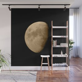 4K Dark Side of the Moon Golden Yellow Wall Mural