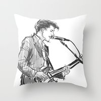 alex turner Throw Pillows featuring alex turner [4] by roanne Q