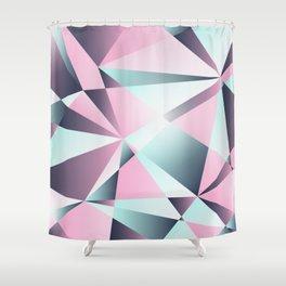 Geometrics in Soft Pastels Shower Curtain