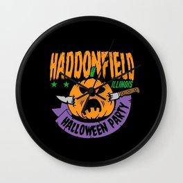 Haddonfield Halloween Party Wall Clock
