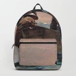 Winslow Homer1 - The Herring Net - Digital Remastered Edition Backpack