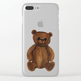 Stare bear. Clear iPhone Case