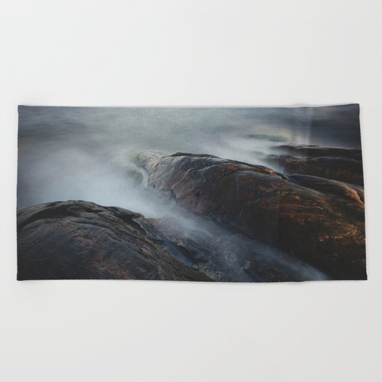 Creatures of the sea Beach Towel