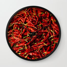 Chili in the Sun Wall Clock