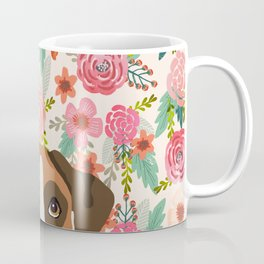 Boxer floral dog head cute pet portrait gifts for Boxers must haves Coffee Mug