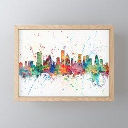 Houston Texas Skyline Framed Mini Art Print