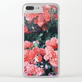 Psychedelic summer florals Clear iPhone Case