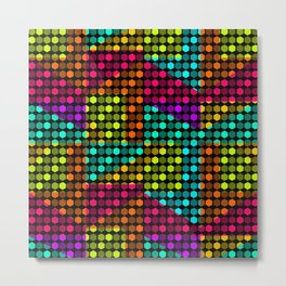 Disco hexagons Metal Print