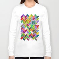 monogram Long Sleeve T-shirts featuring R Monogram by mailboxdisco
